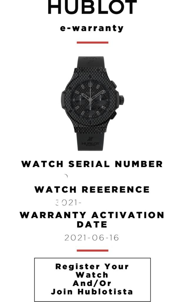 HUBLOT e-Warranty - Vivatech 2021 - LabLuxury and Retail